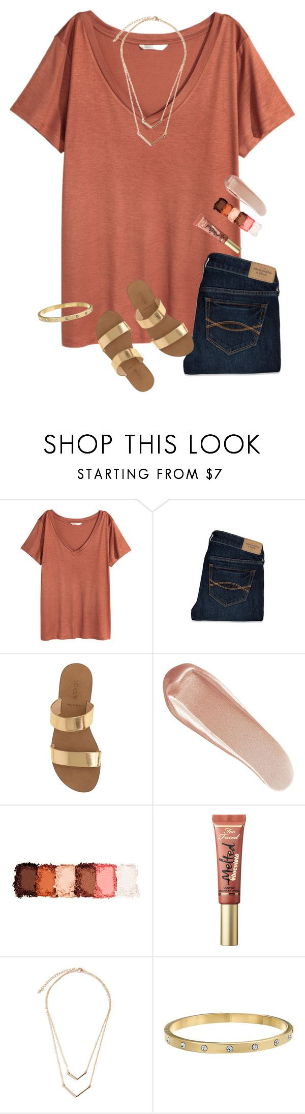 """""""comment a question you have for me and I'll answer!"""" by preppinessandpearls ❤ liked on Polyvore featuring H&M, Abercrombie & Fitch, J.Crew, NARS Cosmetics, NYX, Too Faced Cosmetics and Kate Spade"""