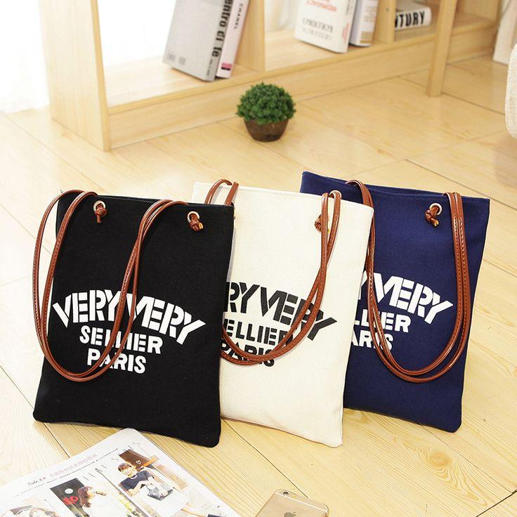 Бренд дизайнер женщины хлопковый холст сплошной цвет большой емкости хозяйственная сумка веревки сумка сумки на ремне леди эко складная сумки