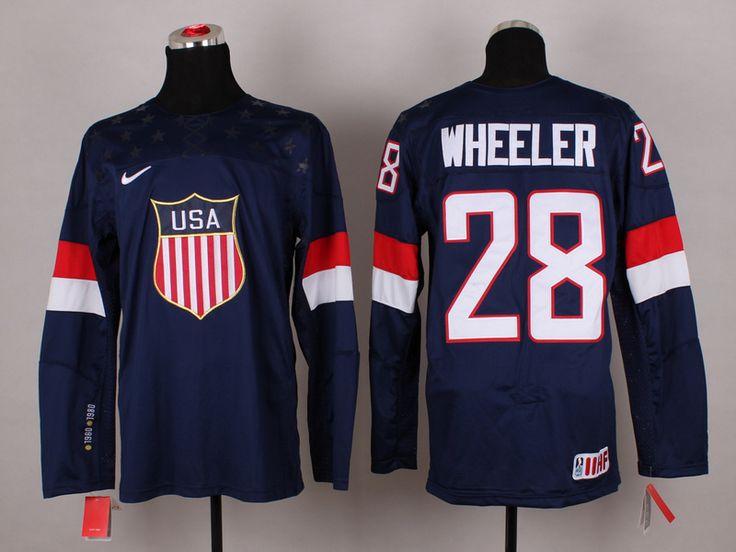 ... 2016 rio2016 Team USA 28 Blake WHEELER 2014 Winter Olympics Jersey -  Navy Blue · Usa HockeyTeam UsaNhl ... 6b9f65b4a