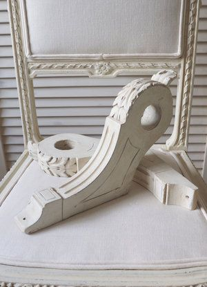 french vintage chic curtain pole brackets