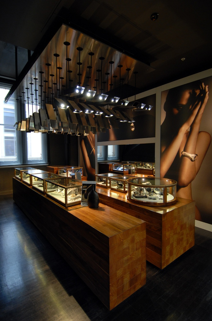 112 best images about specialty retail on pinterest for Jewellery showrooms interior designs