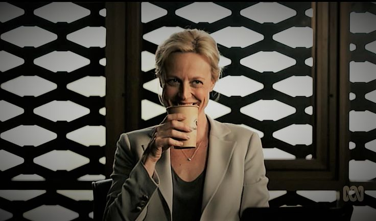 Marta Dusseldorp as Janet King. Bianking.