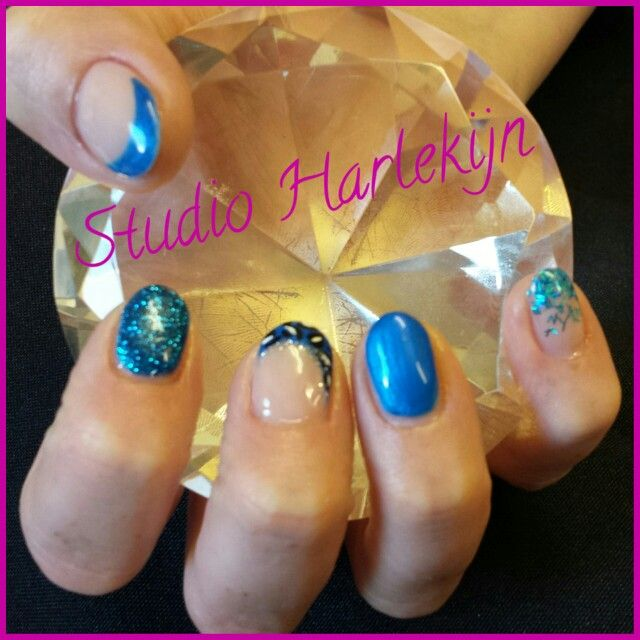 Fantastische blauwe gel nagels.