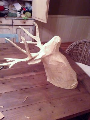Imperfectly Imaginable : DIY Paper Mache Deer Head for around 20$ @Lucky Peach - this made me think of you!