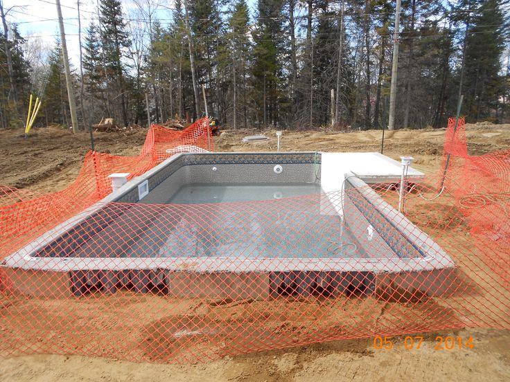 Projet Audrey Faust étape de la construction de la piscine creusée