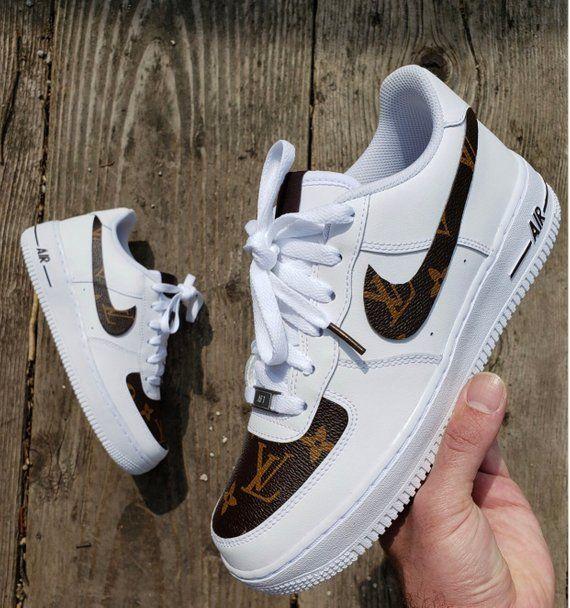 Custom designed LV x Nike AF1 Sneakers