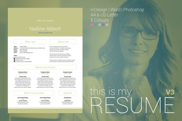 Check out My Resume V3 by bilmaw creative on Creative Market
