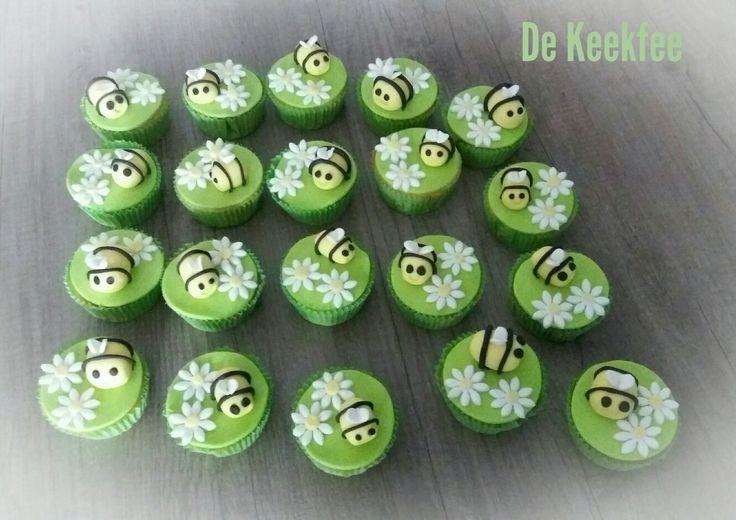 Bijen-cupcakes