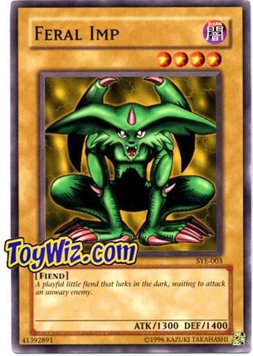 YuGiOh Yugi Evolution Deck Common Feral Imp SYE-003