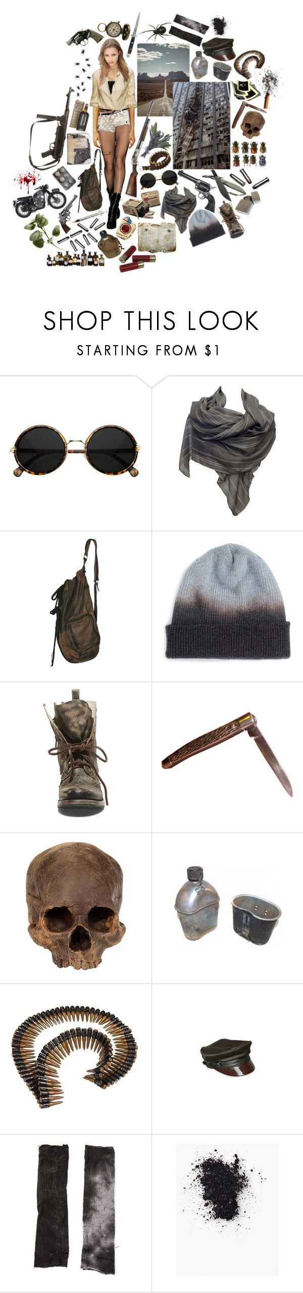 """After the End"" by yulemoon ❤ liked on Polyvore featuring Tokyo Rose, Denis Colomb, Plane, Smith & Wesson, INC International Concepts, Triumph, Revolver, Steve Madden, Tissu Tiré and Switchblade Stiletto"