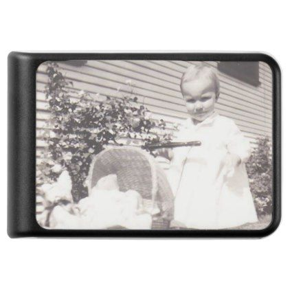 Vintage Photograph Little Girl w Baby Buggy Power Bank - diy cyo personalize design idea new special