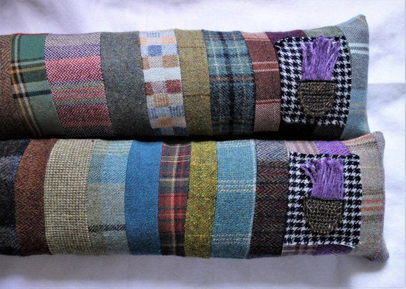 Cosy Draught Excluder 109cm Scottish Wool Plaid And Tweed Window Or Door Draught Excluder Draft Stopper With Thistle Applique Pure Products Handmade Draft Stopper