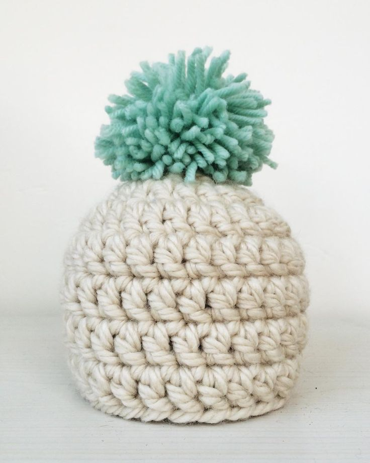 """""""After many tries to use one skein of yarn for the hat, it ended up looking like a pineapple . Crochet Hat"""