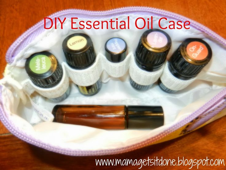 Essential Oil Carrying Case. Convert a makeup bag into a carrying case for your favorite oils. http://mamagetsitdone.blogspot.com/2014/02/diy-essential-oils-carrying-case.html