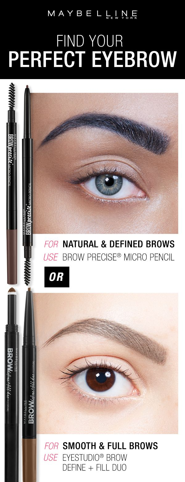 Whether you want natural, defined eyebrows or smooth and full eyebrows, Maybelline has the perfect brow products for you! Click through to use the Brow Play Studio by Maybelline to find your perfect eyebrow look!