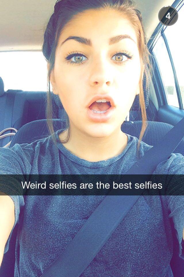 Izzy) Wierd selfies are the best selfies!  *Giggles*
