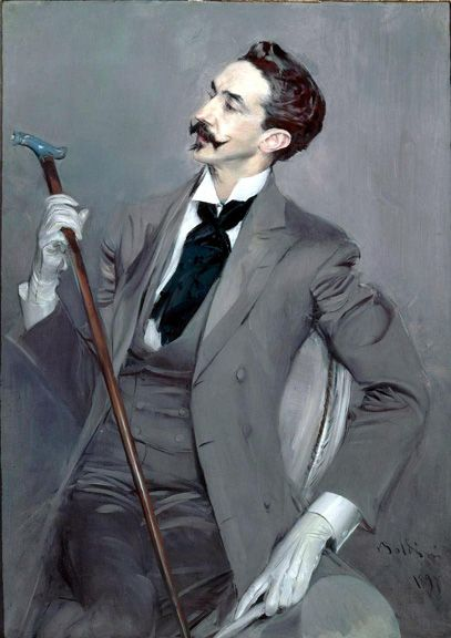 Boldini / Montesquiou - I love canes/walking sticks.
