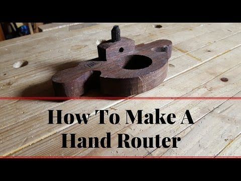 (120) How to Make A Hand Router Plane With Hand Tools Building Tutorial - YouTube