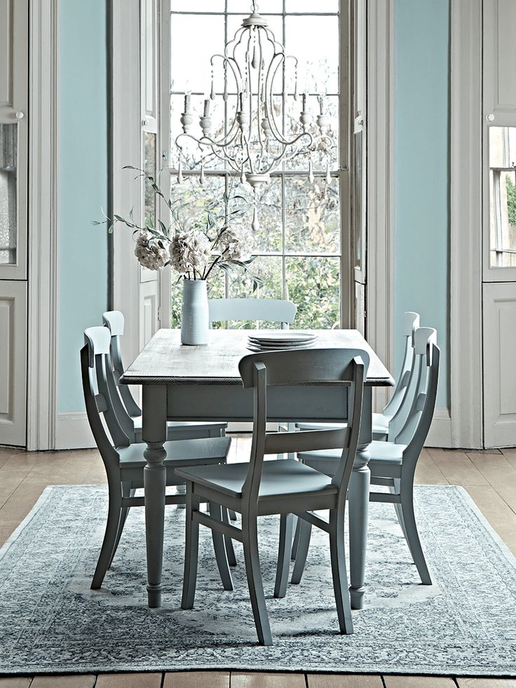 NEW Soft Grey & Pine Dining Table - Square