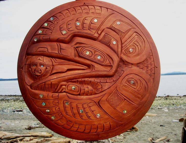 Simple Haida Raven stealing the Sun by Donavon Gates u My Mondo Trading u First Nations Art