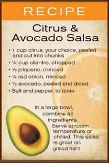Citrus & Avocado Salsa | appetizers | Pinterest | Salsa, Avocado and ...