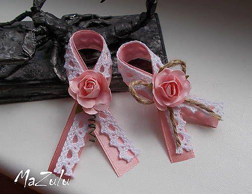 MaZulu / vintage svadobné pierko v ružovom