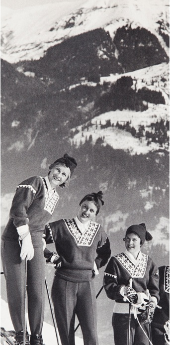 Alpine sweaters & stretch ski pants.
