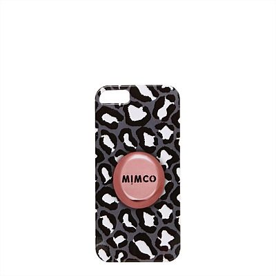Featuring classic leopard print worked over in a black and white palette, this cover will protect your iPhone 5 or 5S in elemental style. #mimcomuse