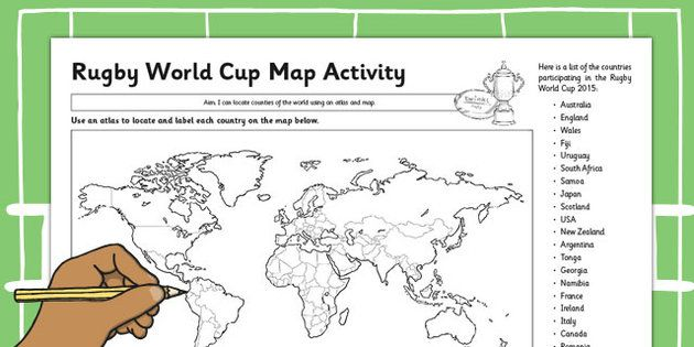 Rugby World Cup Map Activity