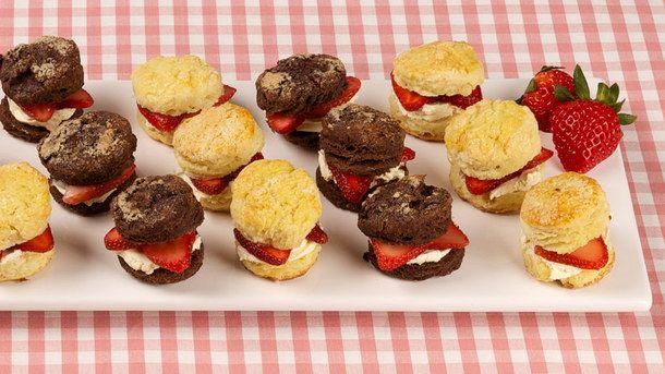 Mini Lemon Scones with Strawberries and Cream