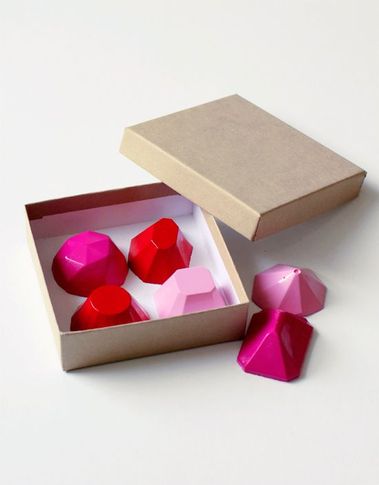 DIY Gemstone Magnets for Valentine's Day