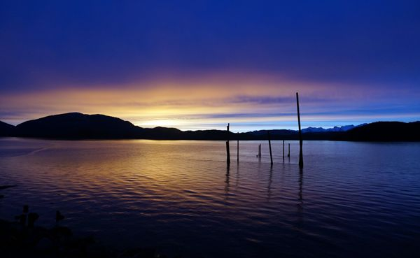Sunset on Prince William Sound, Alaska