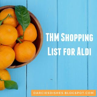 Darcie's Dishes: Trim Healthy Mama Aldi Shopping List