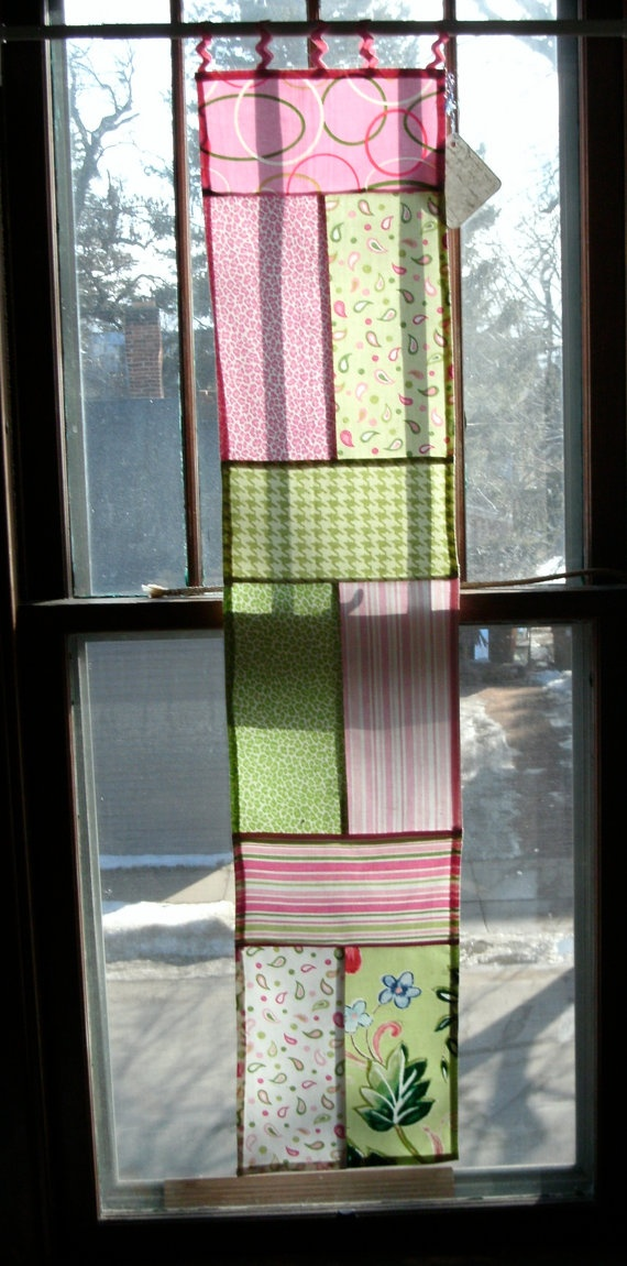 Bojagi Window Panel by jennifoofanne on etsy