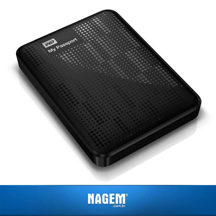 Quem está precisando de um HD novo não pode perder a #OfertaNagem de hoje! Não perca a oportunidade de garantir o HD Externo 500GB WD.