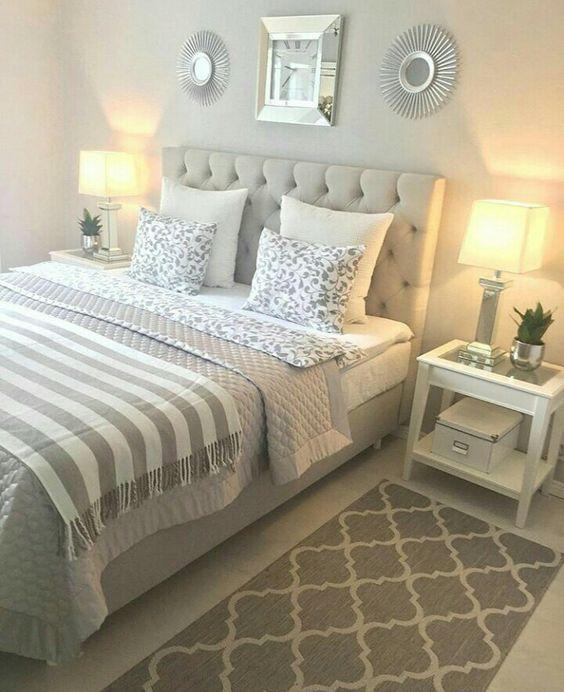 super 32 schöne Schlafzimmerdekor-Ideen für kompakte Abteilungen