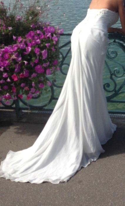 Robe de mariée Maggie Sottero bustier en strass swarovski d'occasion
