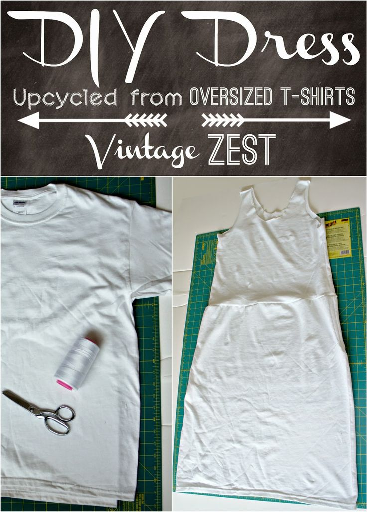 How to: DIY a Dress Upcycled from Oversized T-shirts on ...