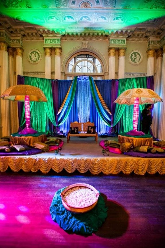 1000 images about sangeet ideas on pinterest for Arab wedding stage decoration