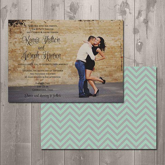 Kenzie Wedding Invitation - DIY Printable Photo Wedding Invitation via Etsy