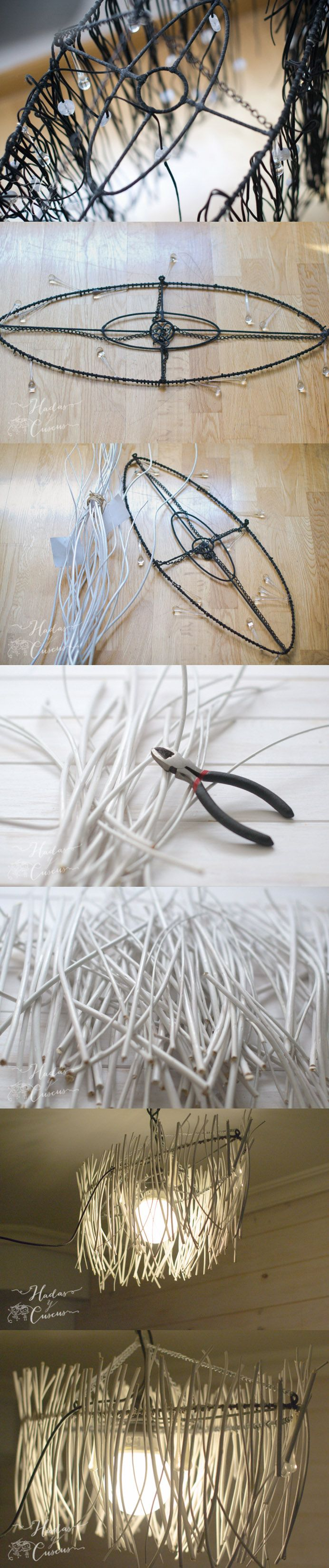 Lámpara DIY reciclada / http://www.hadasycuscus.com/
