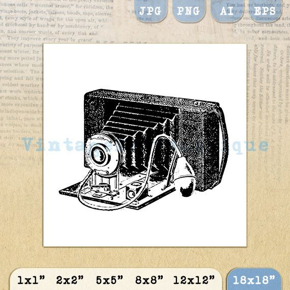 Printable Old Fashioned Camera Digital by VintageRetroAntique