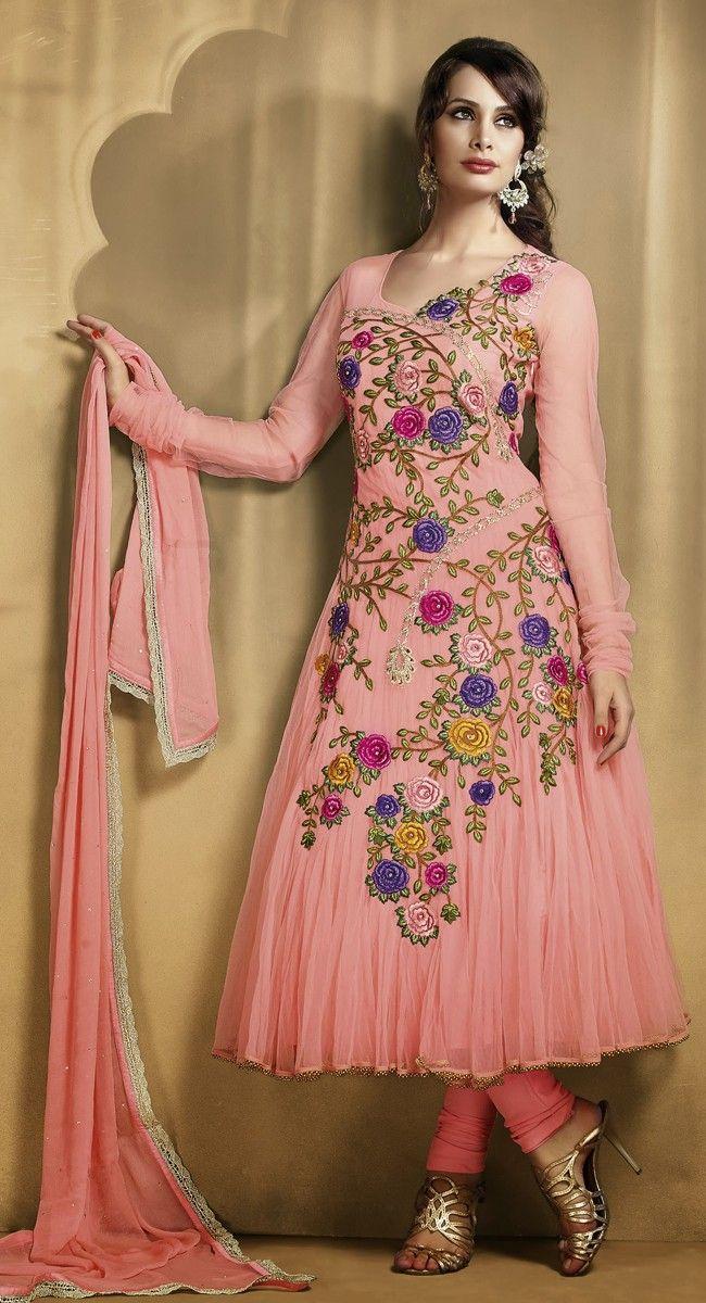 Sparkling Rose Pink Anarkali