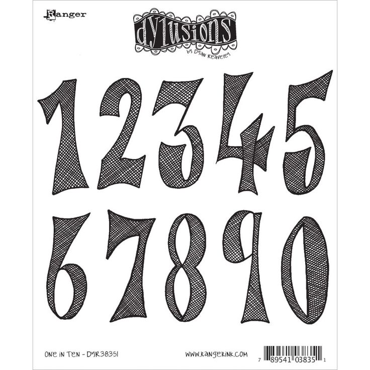 Dylusions - Rubber Stamps - One In Ten Red rubber stamps mounted on EZmount with index sheet for easy storage approx 7 x 8 1 2 10 Stamps Included