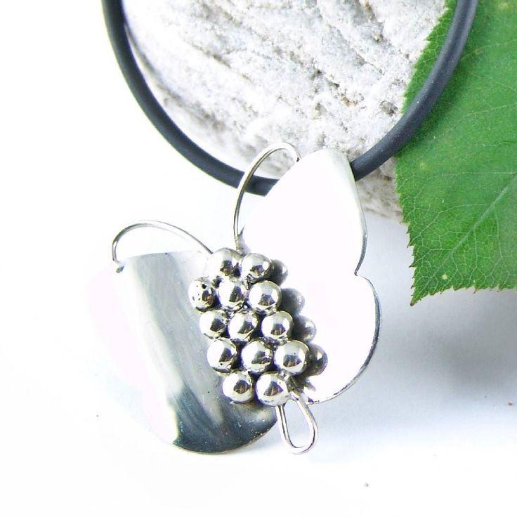 Butterflies all around! Spring is here  Pendant from silver 925 / Μενταγιόν από ασήμι 925 #silver #handmadejewelry #picart #pendant #silverjewelry