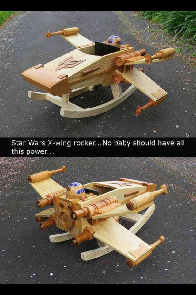 Star Wars X-Wing Rocker | and correction, every baby should have that power