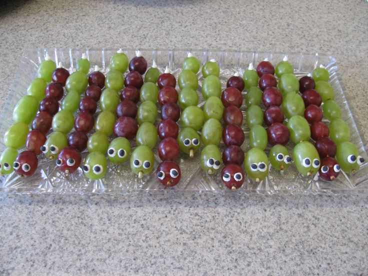 Caterpillar Grapes for Kids Bug Party