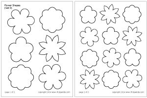 Flower Shapes Set 9.  I like these