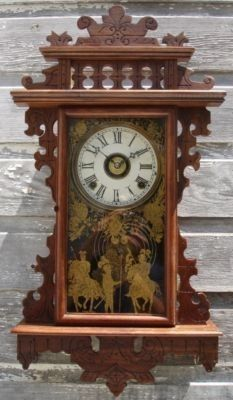 ANTIQUE VICTORIAN E.N. WELCH CRUSADER WALL ALARM CLOCK Search UP FOR YOUR CONSIDERATION IS THIS ORNATE ANTIQUE VICTORIAN E.N. WELCH CRUSADERS WALL ALARM CLOCK. THE CLOCK IS GREAT USED CONDITION; MOVE