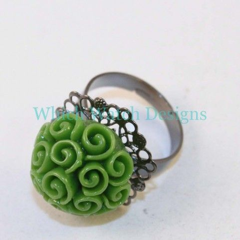 Green Rose Bouquet Ring - Which Watch Designs